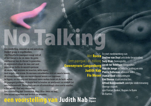 No Talking flyer